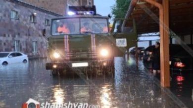 Photo of Արտակարգ իրավիճակ Երևանում. անձրևի պատճառով մեծ թվով ավտոմեքենաներ մասամբ մնացել են ջրի տակ