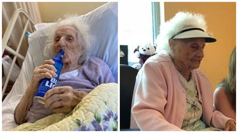 Photo of 103-ամյա ամերիկուհին բուժվել է կորոնավիրուսից և անմիջապես գարեջուր խնդրել՝ իր հաղթանակը նշելու համար