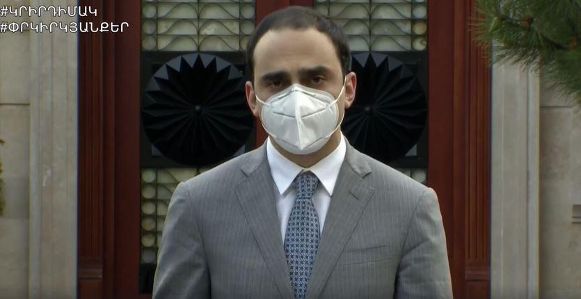 Photo of Ношение маски будет обязательным во всех открытых общественных местах за пределами жилой площади. Комендант на время ЧП в Армении Т. Авинян