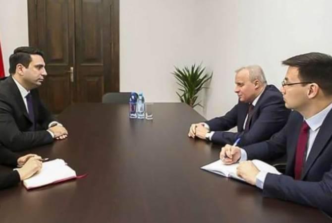 Photo of Ալեն Սիմոնյանը հանդիպել է Հայաստանում ՌԴ դեսպան Սերգեյ Կոպիրկինի հետ