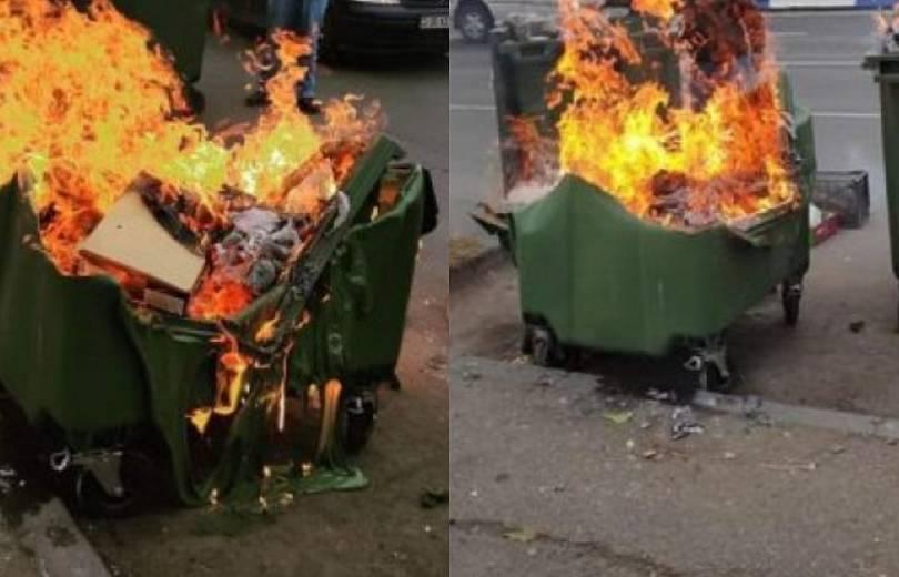 Photo of Այրել են Թումանյան և Նալբանդյան խաչմերուկում տեղադրված 4 աղբամանները