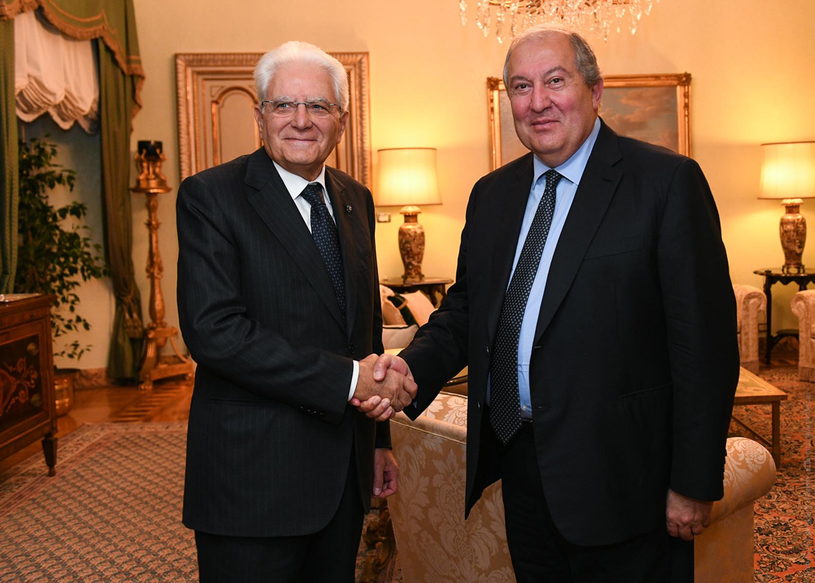 Photo of Հեռու չէ այն օրը, երբ համավարակը կհաղթահարվի, և կկրկնապատկենք մեր երկրների միջև առավել ամուր հարաբերություններ հաստատելու՝ համատեղ հանձնառությունը. նախագահ Արմեն Սարգսյանը շնորհավորել է Իտալիայի նախագահին