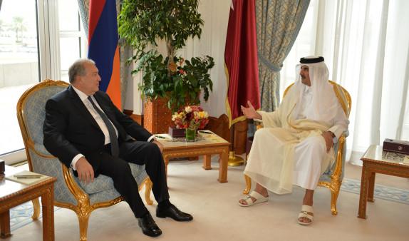 Photo of Նախագահ Արմեն Սարգսյանը ծննդյան օրվա առթիվ շնորհավորական ուղերձ է հղել Կատարի էմիրին