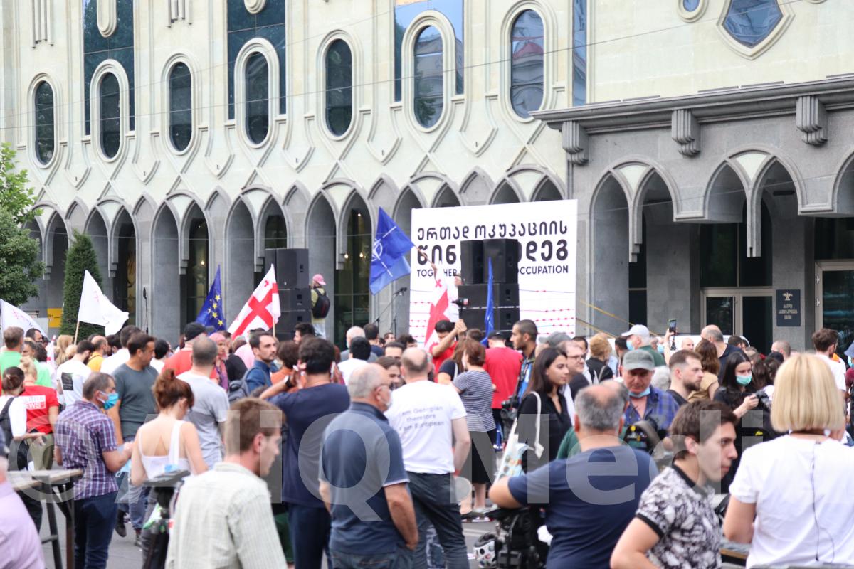 Photo of Վրաստանի խորհրդարանի շենքի դիմաց բողոքի ցույց է ընթանում