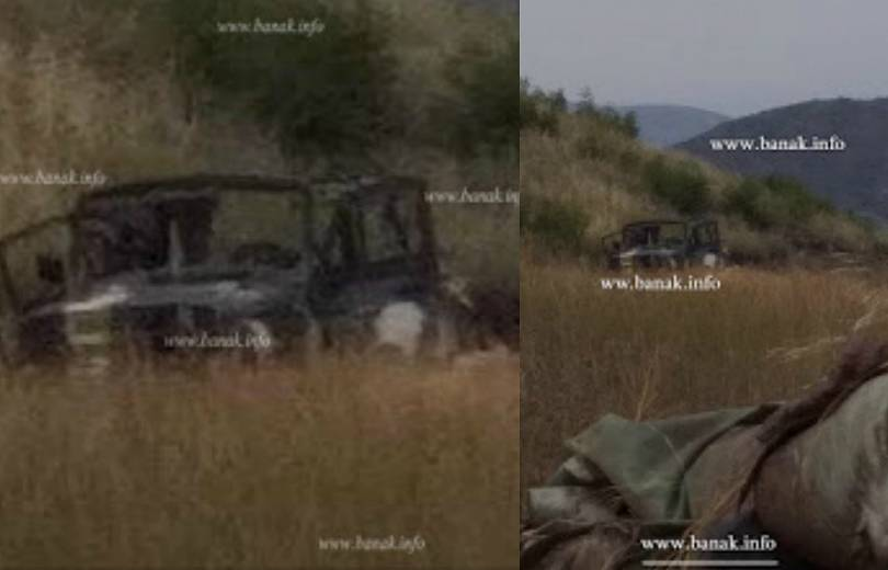 Photo of Опубликованы фотографии азербайджанского  «УАЗ»-а, пораженного  на границе Вооруженными силами Армении