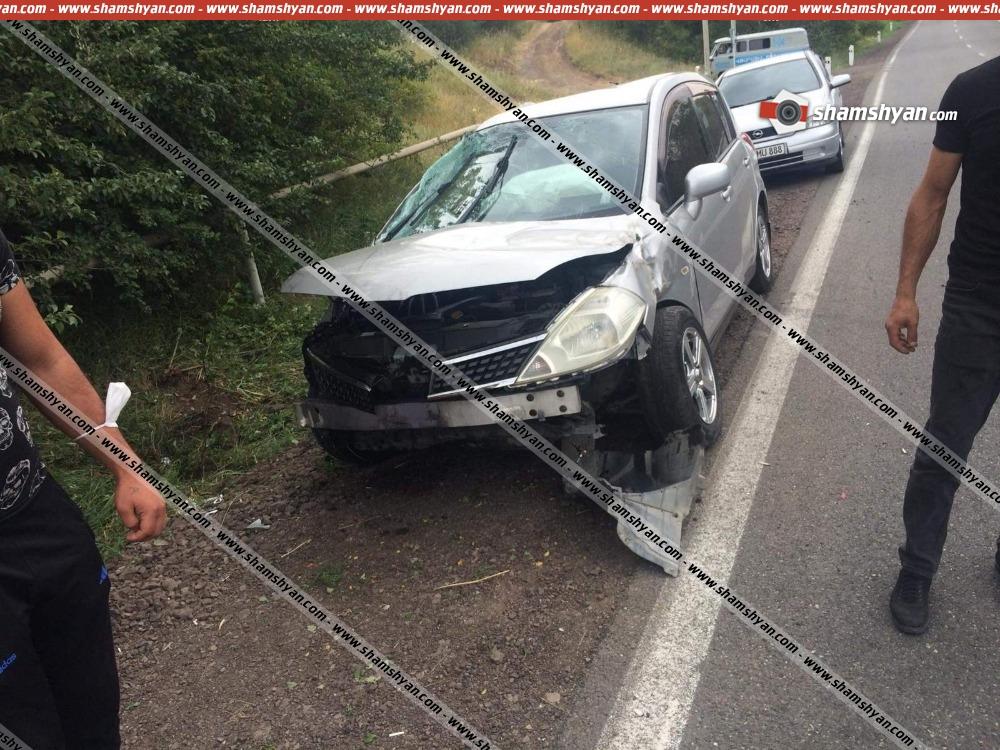 Photo of Ավտովթար Տավուշի մարզում. 28-ամյա վարորդը Nissan Tiida-ով կողաշրջվել է. կա վիրավոր