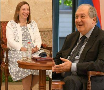 Photo of Посол США и президент Армении коснулись предоставленной США помощи в размере $6,6 млн., и другим сферам сотрудничества