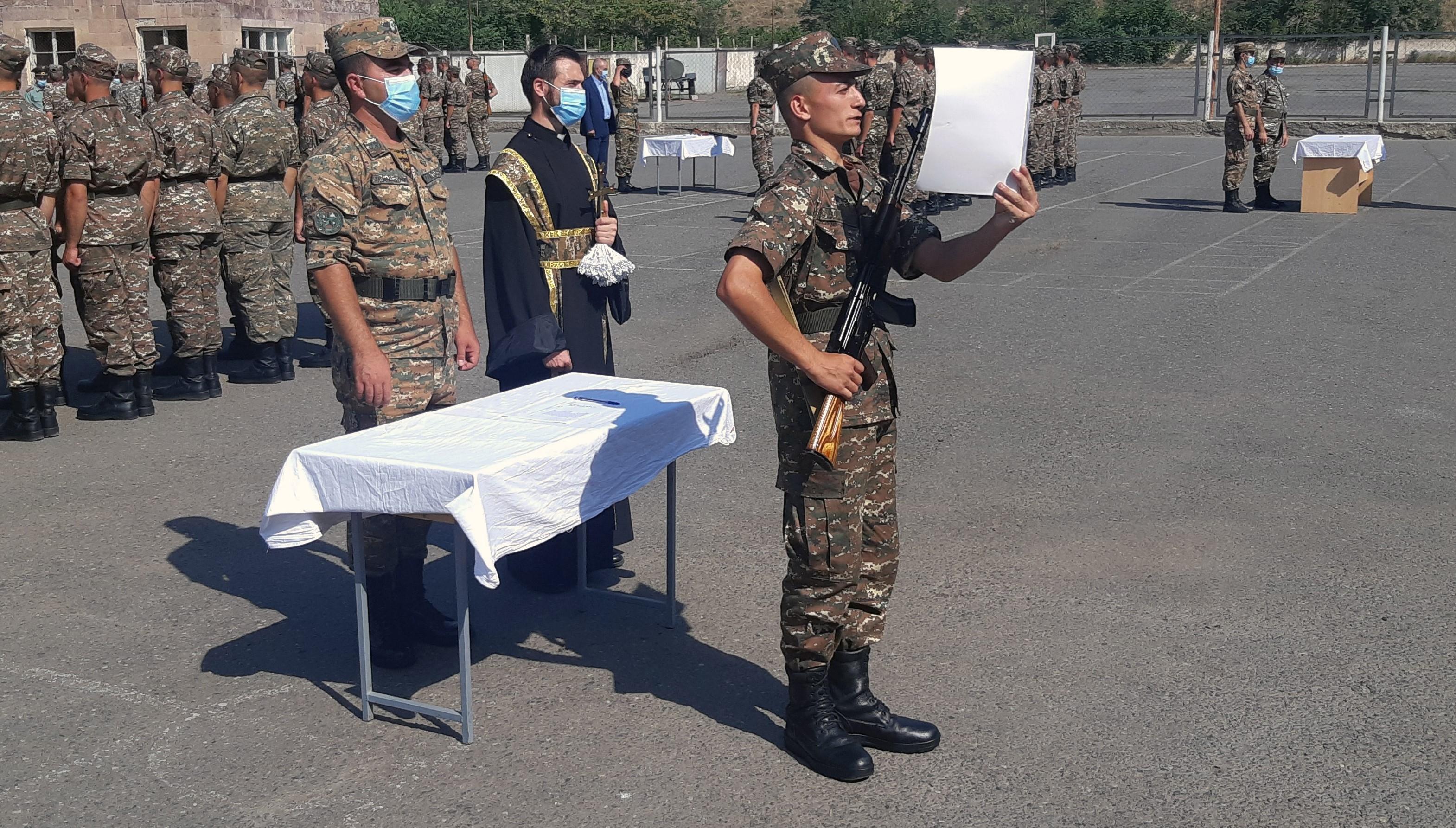 Photo of 1-ին զորամիավորումում տեղի է ունեցել նորակոչիկ զինծառայողների երդման հանդիսավոր արարողություն