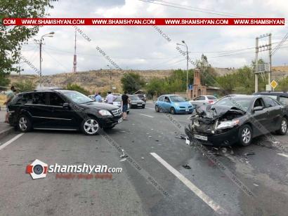 Photo of Խոշոր ավտովթար Երևանում. բախվել են Mercedes ML 350-ն ու Toyota Camry-ն. կան վիրավորներ