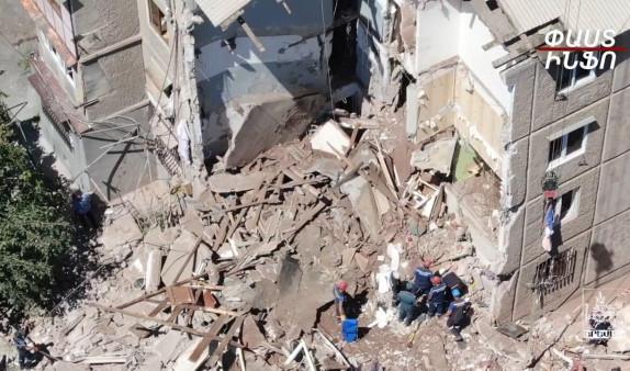 Photo of Ущерб, нанесенный обрушившемуся от взрыва жилому дому — кадры с высоты птичьего полета