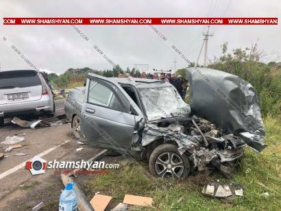 Photo of Խոշոր ավտովթար Գեղարքունիքի մարզում. բախվել են Lexus RX 350, Mitsubishi Grandis, ВАЗ 2110, ВАЗ 21112 մակնիշի ավտոմեքենաները