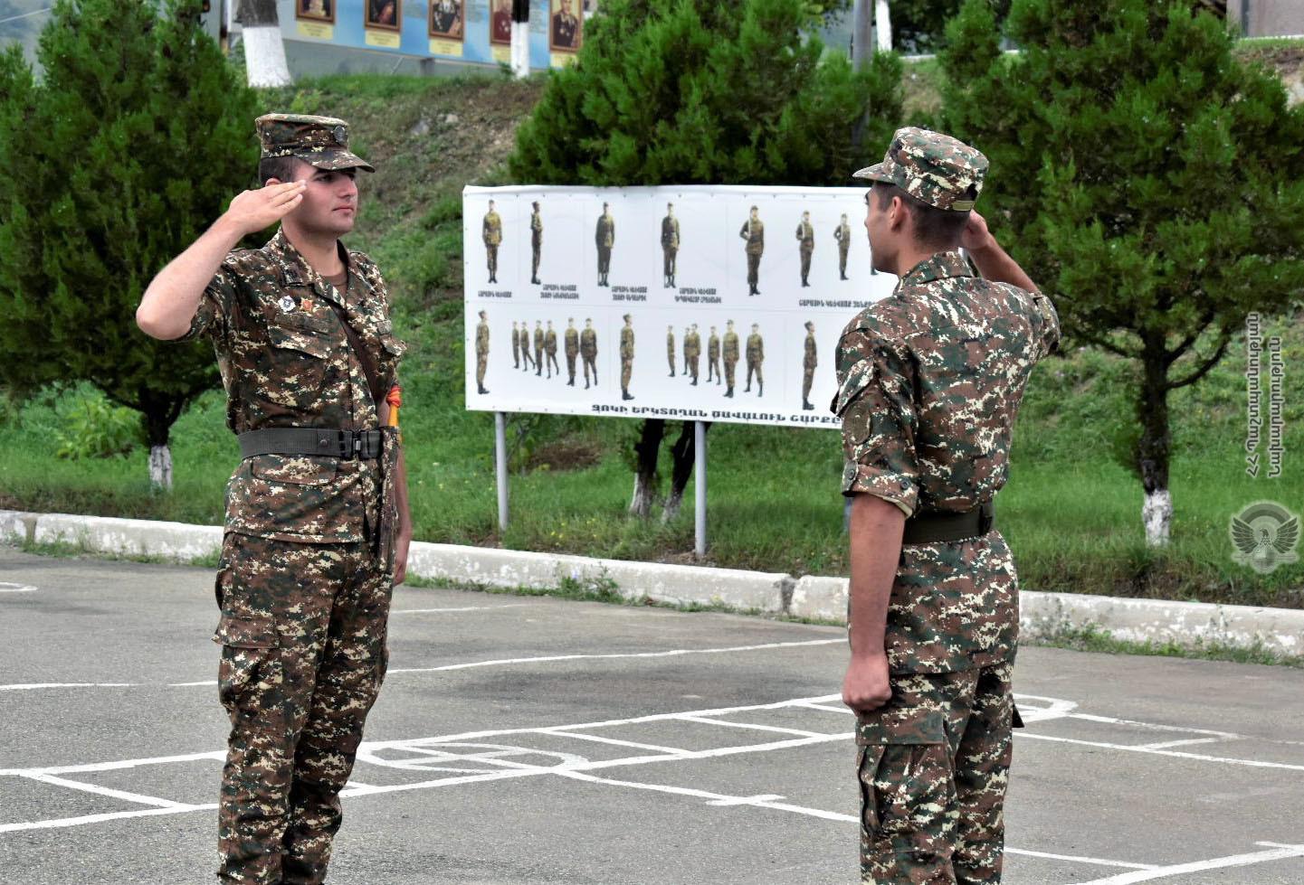 Photo of Նորակոչիկ զինծառայողների հետ անցկացվել են պարապմունքեր