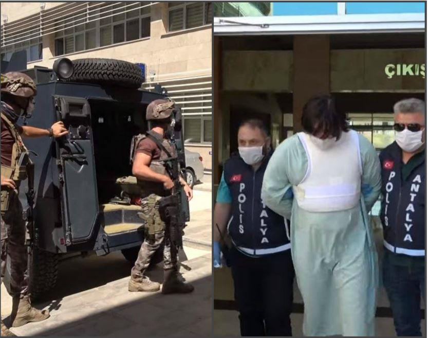 Photo of Как большое количество турецких полицейских на бронетранспортере перевозят убийцу Лоту Гули и его сообщника