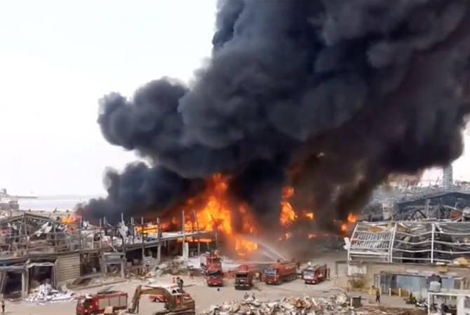 Photo of На территории порта Бейрута вспыхнул новый пожар