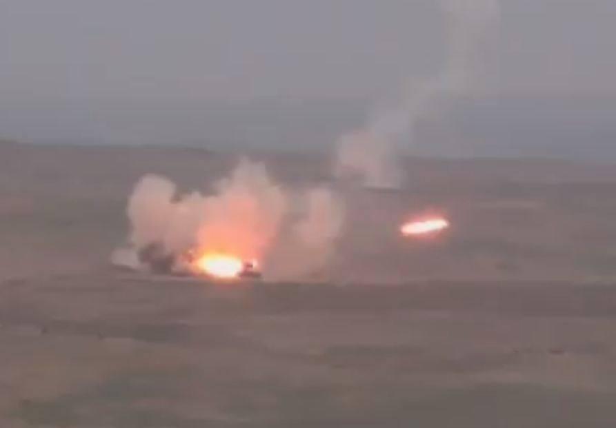 Տեսանյութ.Հակառակորդը, մարդկային և զինտեխնիկայի մեծ կորուստներից սարսափած կիրառել է ծանր «ՏՕՍ» հրանետ