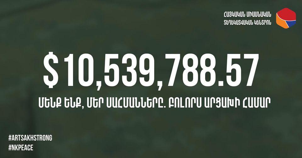 Photo of Հայաստան համահայկական հիմնադրամի «Մենք ենք, մեր սահմանները. բոլորս Արցախի համար» դրամահավաքի արդյունքում ստացվել է ավելի քան 10 մլն դոլար նվիրատվություն