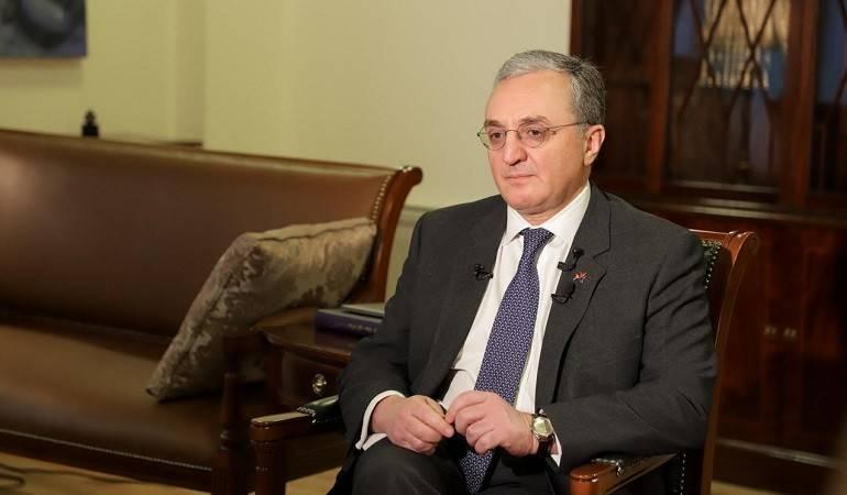 """Photo of Интервью главы МИД Армении Зограба Мнацаканяна информационному агентству """"Интерфакс"""""""
