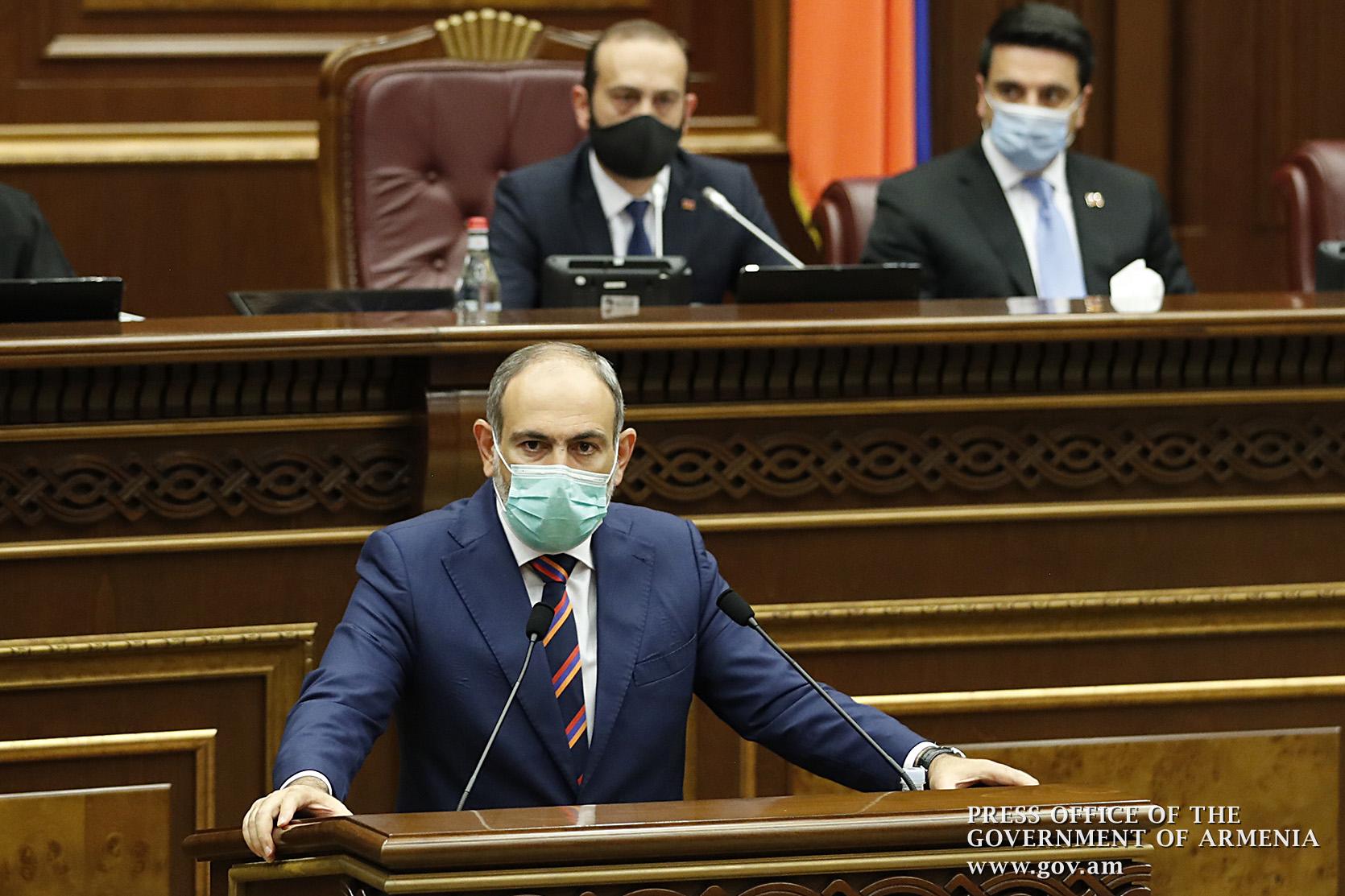 Photo of Речь премьер-министра в Национальном Собрании о решении объявить в Армении военное положение