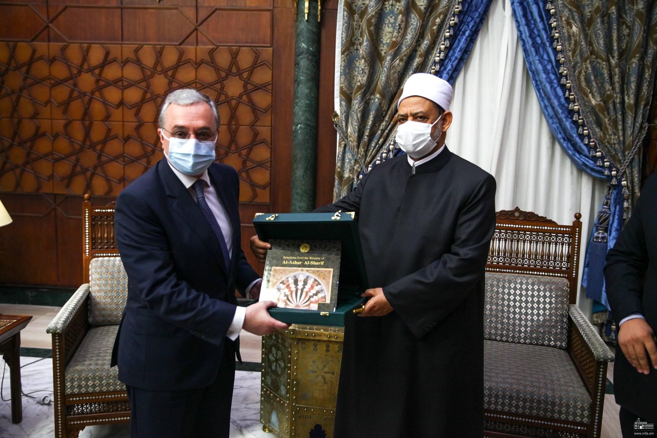 Photo of Глава МИД Армении провел встречу с Верховным имамом мечети Аль-Азхар