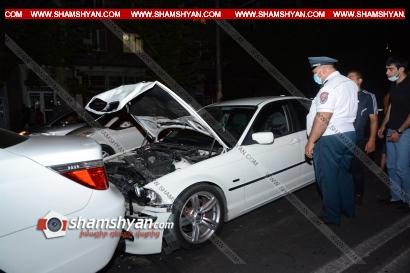 Photo of Խոշոր ավտովթար Երևանում. բախվել են 2 BMW, Toyota և Volkswagen ավտոմեքենաները. կան վիրավորներ
