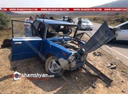 Photo of Արագածոտնի մարզում միմյանց են բախվել Nissan-ն ու ВАЗ 21013-ը. կան վիրավորներ