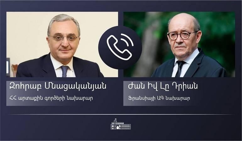 Photo of Հայաստանի և Ֆրանսիայի ԱԳ նախարարների հեռախոսազրույցը