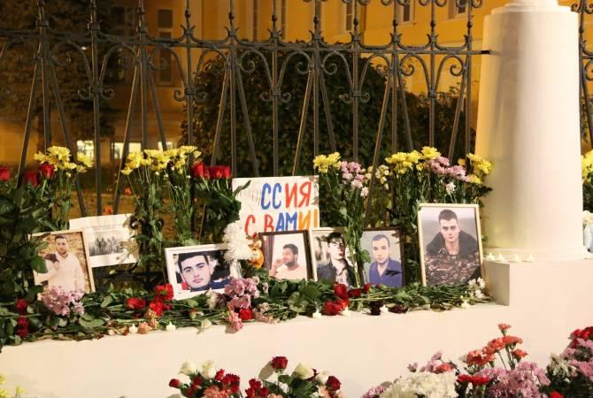 Photo of Перед посольством Армении в РФ воздают дань памяти погибших солдат
