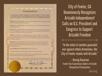 Photo of ԱՄՆ Ֆաուլեր քաղաքի քաղաքային խորհուրդը միաձայն ճանաչել է Արցախի անկախությունը