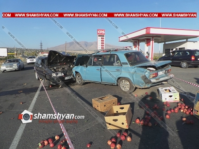 Photo of Խոշոր ավտովթար Արագածոտնի մարզում. բախվել է 3 ավտոմեքենա. կան վիրավորներ