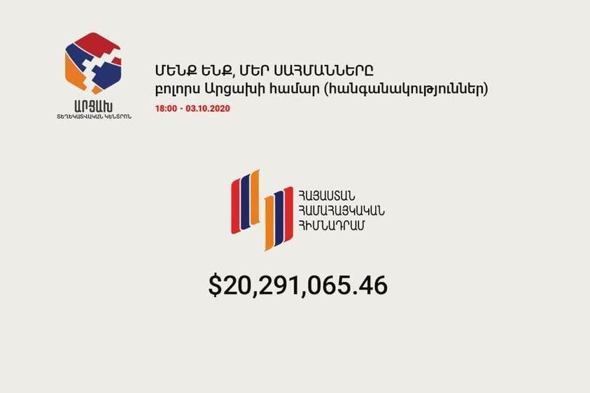 Photo of Արցախի համար հավաքվել է 20,589,736.95 դոլար