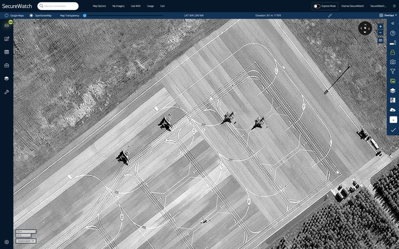 Photo of Американский спутниковый сервис Maxar Technologies выявил турецкие истребители F-16 на авиабазе Габала в Азербайджане