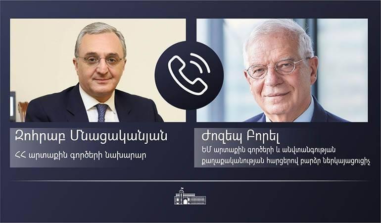 Photo of Զոհրաբ Մնացականյանի հեռախոսազրույցը ԵՄ արտաքին գործերի և անվտանգության քաղաքականության հարցերով բարձր ներկայացուցիչ Ժոզեպ Բորելի հետ