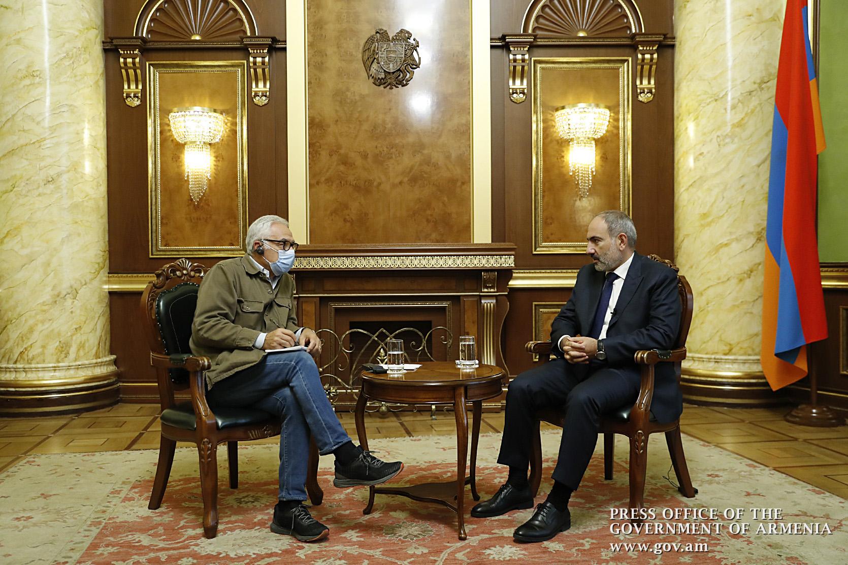 Photo of Способом остановить угрозу геноцида -признание независимости Нагорного Карабаха международным сообществом. Никол Пашинян в интервью La Republicа