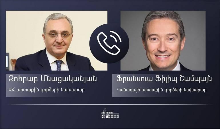 Photo of Հայաստանի եւ Կանադայի ԱԳ նախարարները քննարկել են Ադրբեջանի սանձազերծած լայնամասշտաբ ագրեսիայի հետևանքով հակամարտության գոտում ստեղծված իրադրությունը