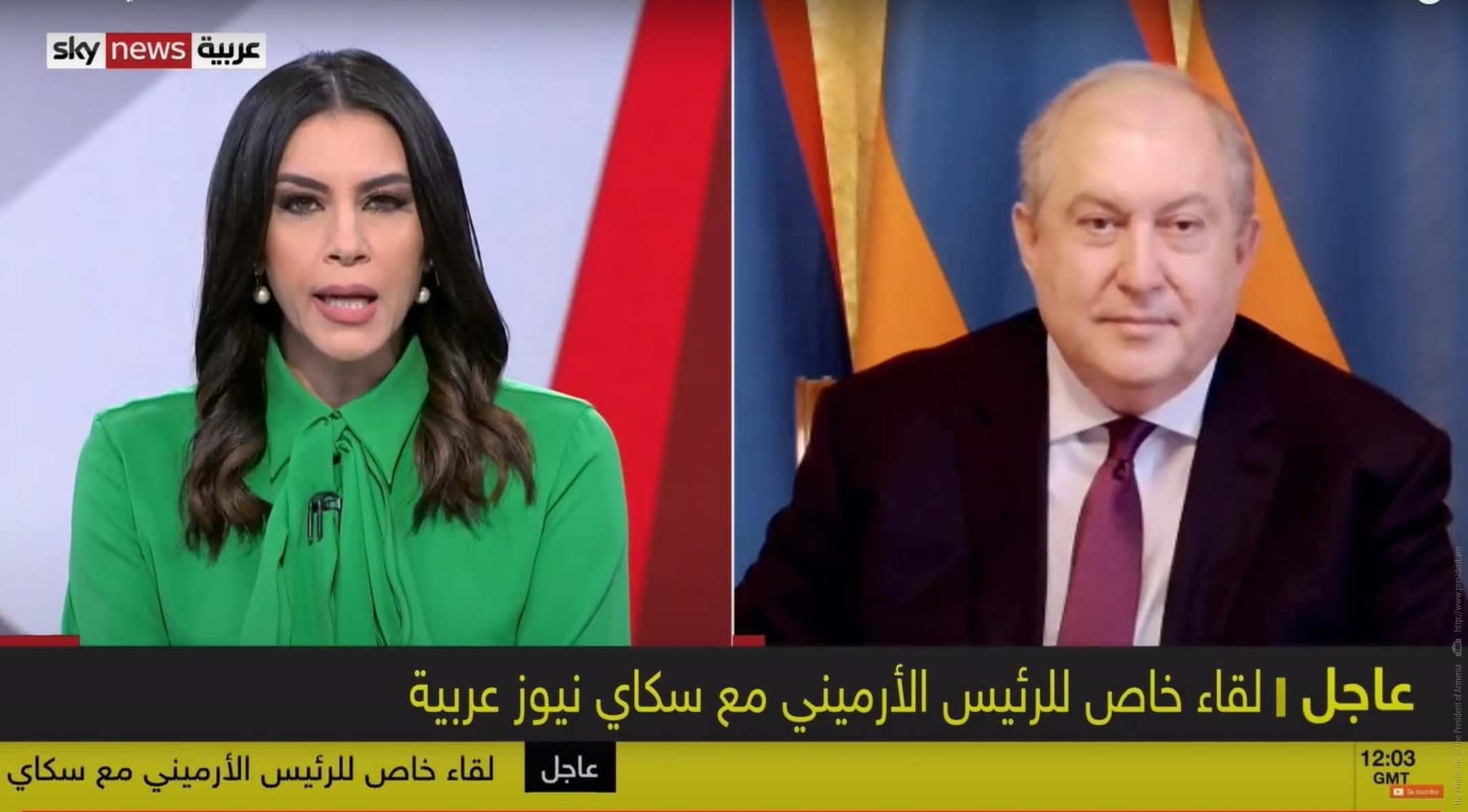 Photo of Թուրքիան միջազգային հանրության ճնշման ներքո պետք է դուրս գա այս հակամարտությունից. նախագահ Սարգսյանի հարցազրույցը Sky News Arabia հեռուստաընկերությանը
