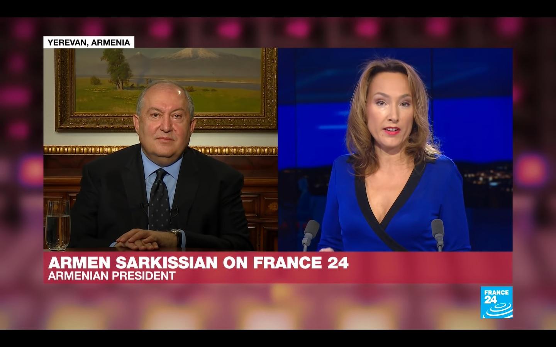 Photo of Ե՞րբ է միջազգային հանրությունը ճնշում գործադրելու Թուրքիայի վրա, որպեսզի այդ երկիրը դուրս գա այս հակամարտությունից. նախագահ Արմեն Սարգսյանը` France 24-ին