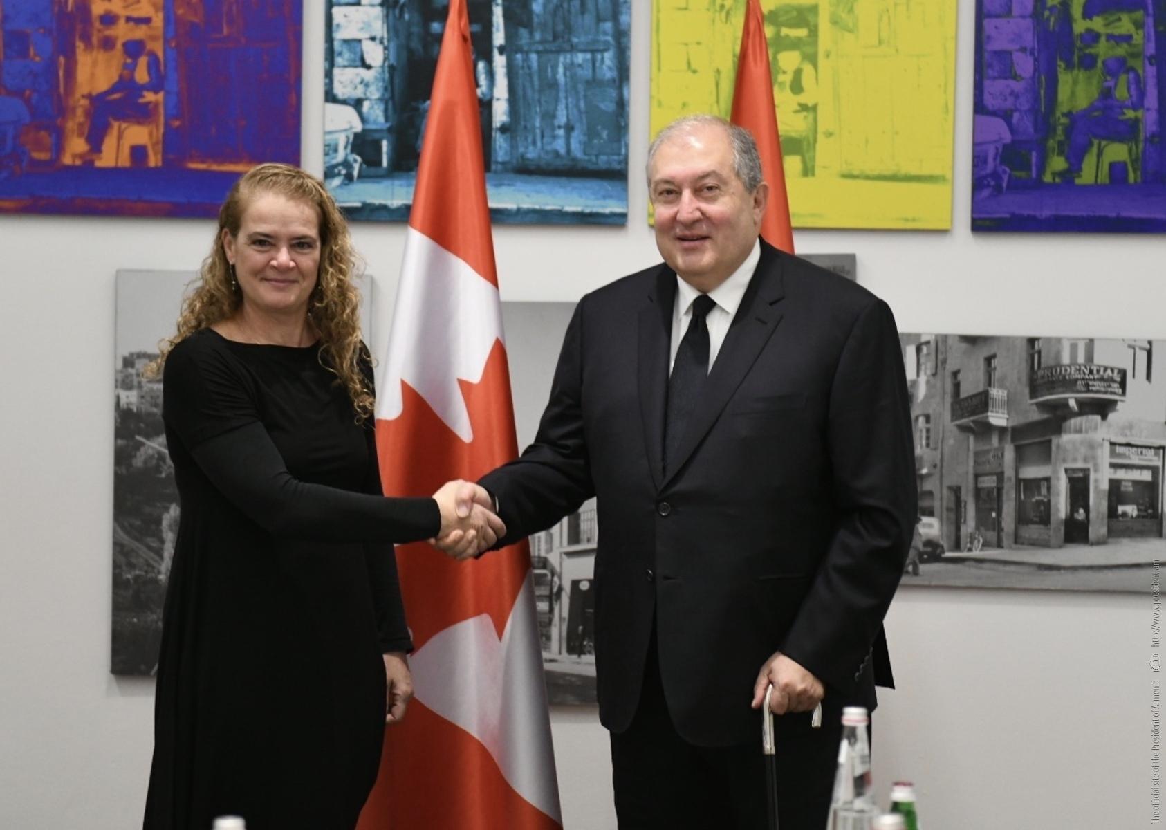 Photo of Երախտագիտություն եմ հայտնում Կանադայի կառավարությանը Թուրքիային ռազմական սարքավորումներ տրամադրելու արտոնագրից զրկելու որոշման համար. նախագահի ուղերձը Կանադայի գեներալ-նահանգապետին