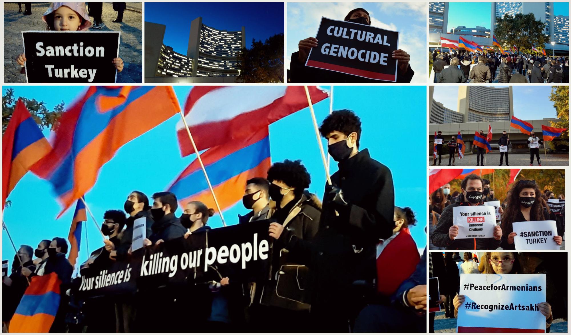 Photo of Ձեր լռությունը սպանում է մեր ժողովրդին. բողոքի ցույց Վիեննայում