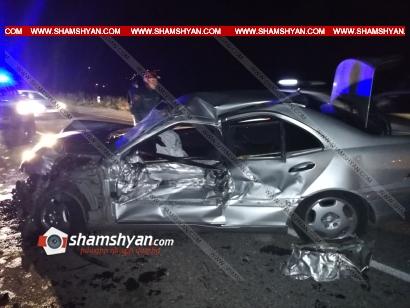 Photo of Խոշոր ավտովթար Լոռու մարզում. Ճակատ-ճակատի բախվել են Mercedes-ն ու ГАЗ 53-ը. կան վիրավորներ