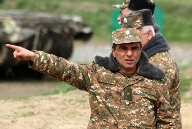 Photo of ՊԲ հրամանատար Միքայել Արզումանյանն ընդունել է ՌԴ խաղաղապահ զորակազմի հրամանատար Ռուստամ Մուրադովին