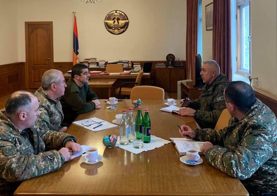 Photo of Արցախի նախագահն ընդունել է ՌԴ խաղաղապահ զորակազմի հրամանատար, գեներալ-լեյտենանտ Ռուստամ Մուրադովին