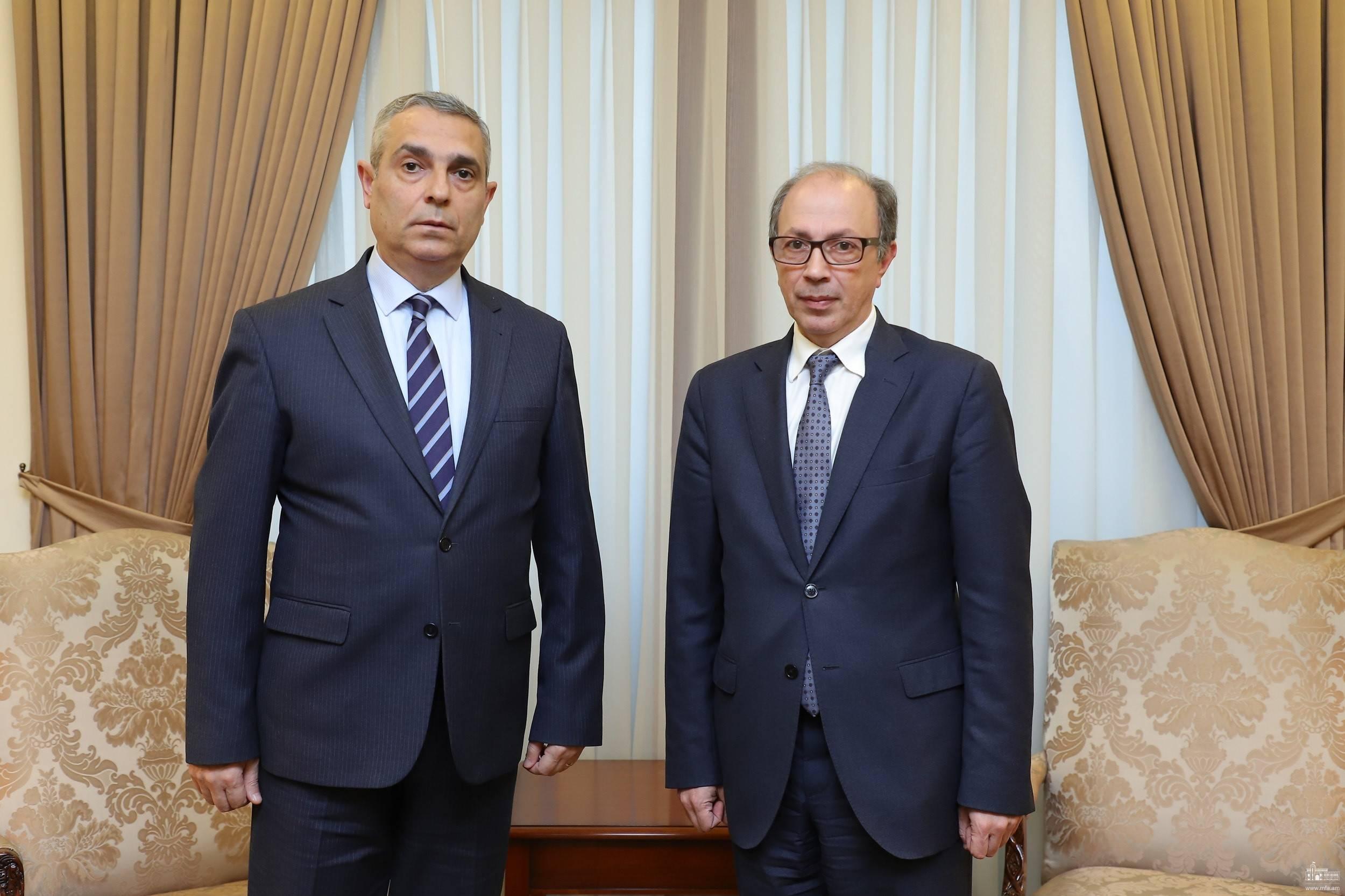Photo of Масис Маилян встретился с новоназначенным главой МИД Армении