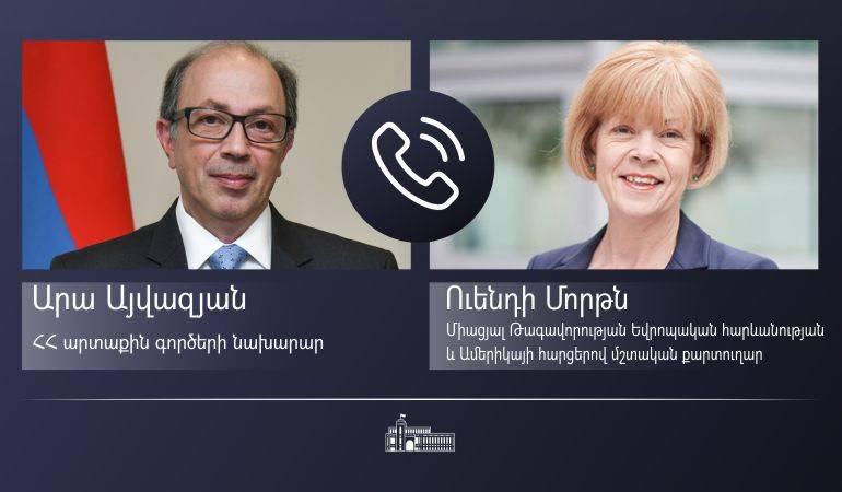 Photo of ԱԳ նախարար Արա Այվազյանի հեռախոսազրույցը Միացյալ Թագավորության Եվրոպական հարևանության և Ամերիկայի հարցերով մշտական քարտուղարի հետ