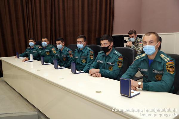 Photo of Պարգևատրվել են մարտական գործողություններին մասնակցած փրկարարները