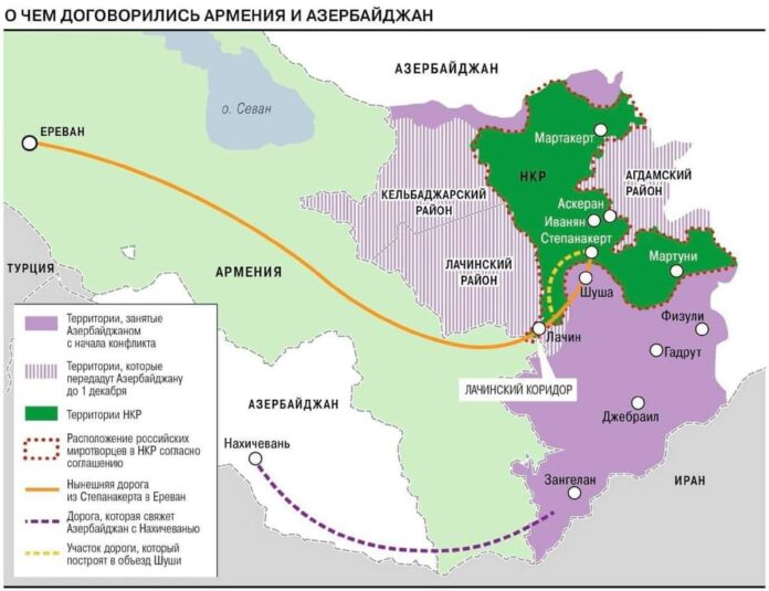 Photo of Փաշինյանի, Ալիևի և Պուտինի քարտեզը` ըստ Կոմերսանտի
