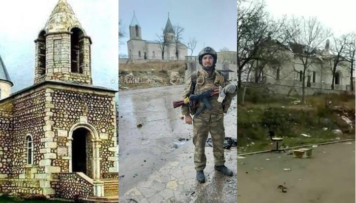 Photo of Ադրբեջանցիները պայթեցրել են Շուշիի Կանաչ ժամի գմբեթները