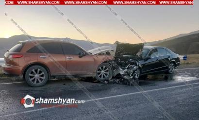 Photo of Խոշոր ավտովթար Սյունիքի մարզում. ճակատ-ճակատի բախվել են Infiniti-ն ու Mercedes-ը. կա 5 վիրավոր
