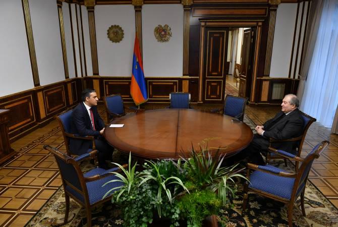 Photo of ՀՀ նախագահն ու ՄԻՊ-ը քննարկել են Ադրբեջանում հայ գերիներին վերադարձնելու ուղղությամբ ձեռնարկվող քայլեր