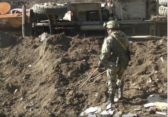 Photo of Российские миротворцы обезвредили около тысячи взрывоопасных предметов в Нагорном Карабахе и обеспечили безопасность работ по восстановлению линий электропередач