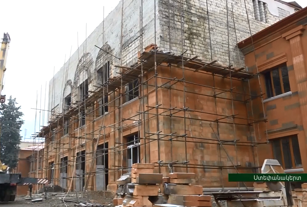 Photo of Վերսկսվել են Արցախի պետական համալսարանի գլխավոր մասնաշենքի վերակառուցման աշխատանքները